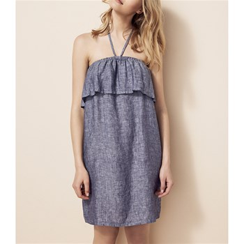 PLAY - Robe en lin - bleu