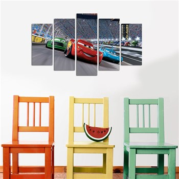 Wallity - Lot de 5 tableaux - multicolore