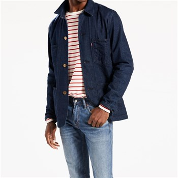Selvedge Utility Coat - Camicia in jeans - blu jeans