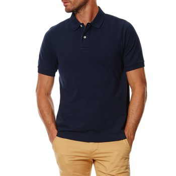 PIQUE POLO FITTED - Polo manches courtes - blu scuro