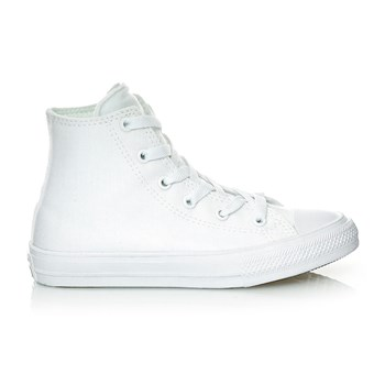 CHUCK TAYLOR ALL STAR II HI WHITE/WHITE/NAVY - Derbies - blanc