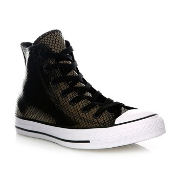 CHUCK TAYLOR ALL STAR HI BLACK/BLACK/WHITE - Baskets montantes en cuir - noir