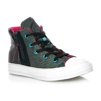CHUCK TAYLOR ALL STAR SPORT ZIP HI ALMOST BLACK/MAGENTA - Baskets montantes - noir