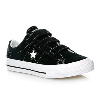 ONE STAR 3V OX BLACK/WHITE/BLACK - Baskets - noir