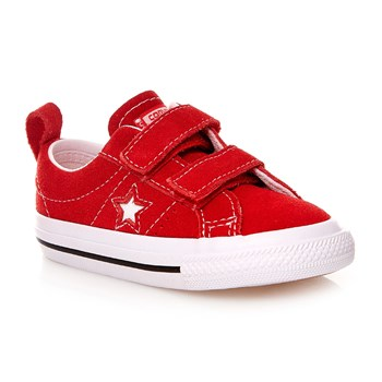 ONE STAR 2V OX RED/WHITE/BLACK - Baskets en cuir suédé - rouge