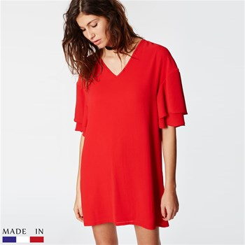 Dina - Robe - rouge
