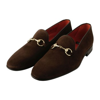 Alec - Slippers en cuir - marron