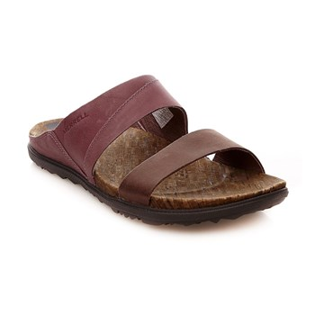 Around Town Slide - Sandales en cuir - violet