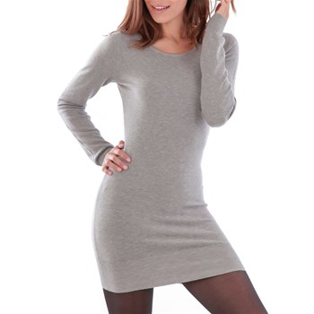 fashion mode - Robe pull - gris