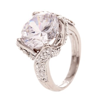 Original Crystal - Solitaire Glamour Crystal - Ring - weiss