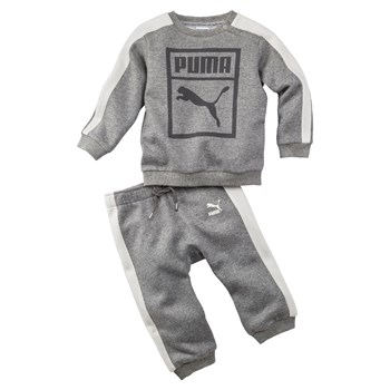 Ensemble sweat-shirt et pantalon jogging - gris