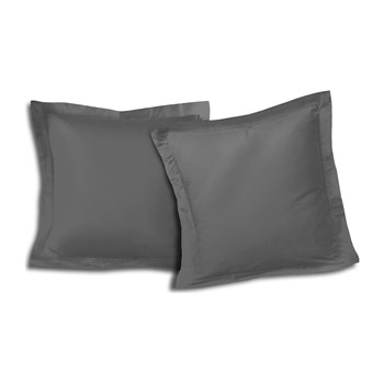 Sweet Home - Lot de 2 taies d'oreillers - gris