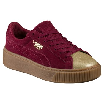 Platform - Sneakers in pelle - bordeaux