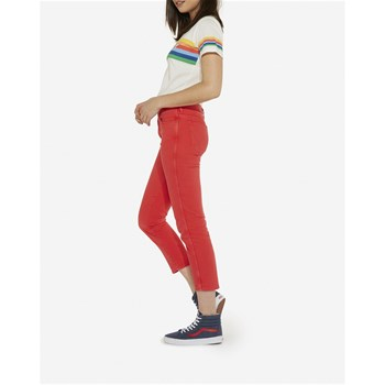 Cropped straight - rosso