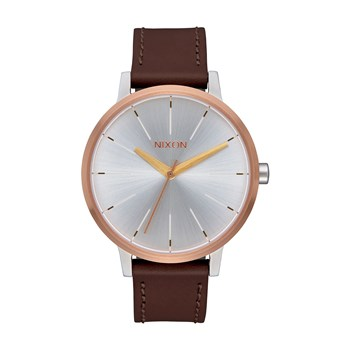 Nixon - Kensington - Montre en cuir - or