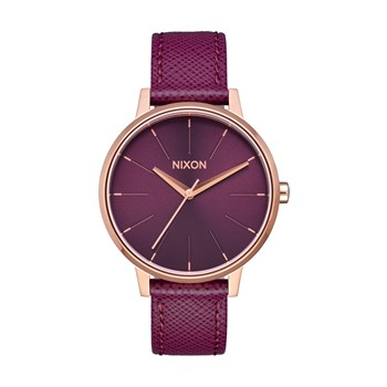 Kensington - Orologio in pelle - bordeaux
