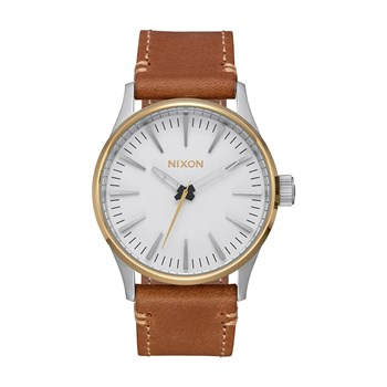 Nixon - Sentry 38 - Montre en cuir - marron
