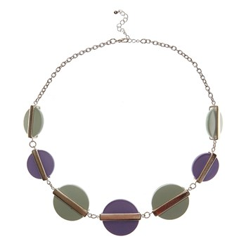 Collier fantaisie - violet
