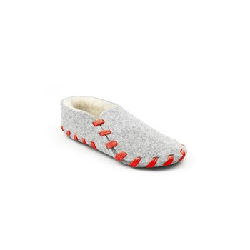 Chaussons lainé adulte - rouge