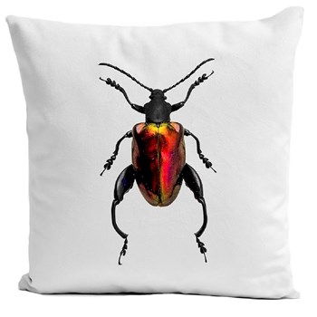 Insect III - Housse de coussin - blanc