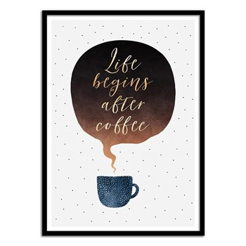 Wall Editions - Positive Motivation Morning Coffee - Affiche art 50x70 cm