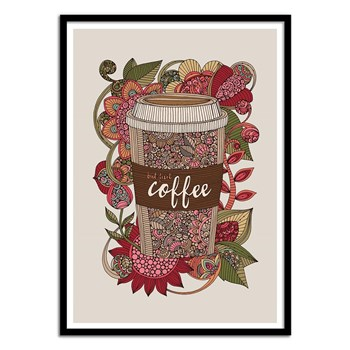 Wall Editions - First Coffee - Affiche art 50x70 cm