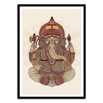 Wall Editions - Ganesha Hindu God - Affiche art - multicolore