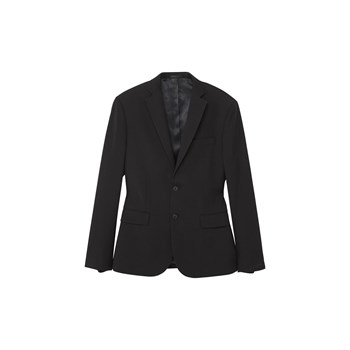Veste de costume slim-fit structurée - noir