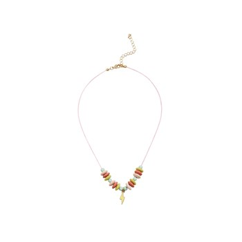 Collier perles - rose