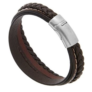 Elitic - Bracelet en cuir - marron