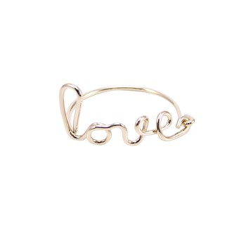 Love - Bague fine - or