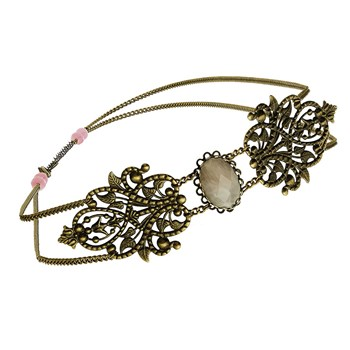 Kaméa - Headband orné de quartz - rose