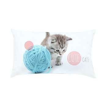 Ifilhome - Cute Cat - Coussin rectangulaire - blanc