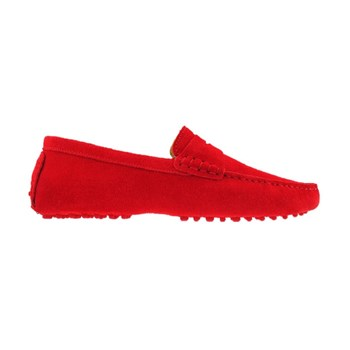 Mocassins en cuir - rouge