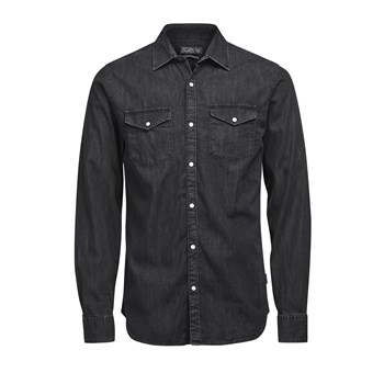 New - Camicia in jeans - nero