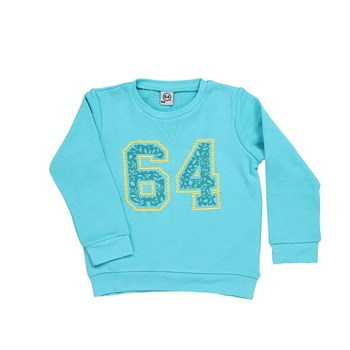 Collège Floral - Sweat-shirt - turquoise