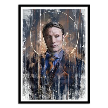 Wall Editions - Mad Mikkelsen x Hannibal digital Painting - Affiche art 50x70 cm