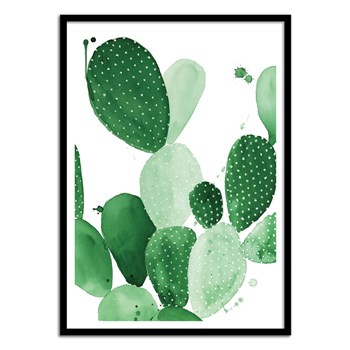 Wall Editions - Cactus Watercolor - Affiche art 50 x 70 cm - vert