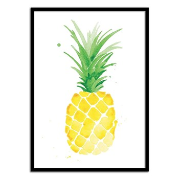 Wall Editions - Ananas Aquarelle - Affiche art 50 x 70 cm - jaune