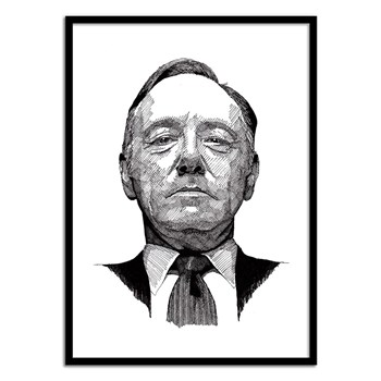 Wall Editions - House of Cards Portrait - Affiche art 50 x 70 cm