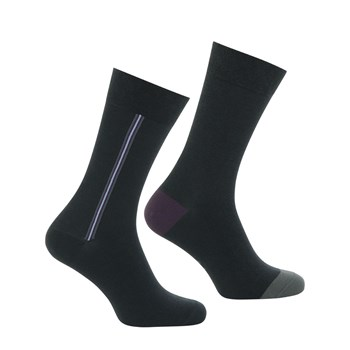City Poets - Lot de 2 paires de chaussettes - anthracite
