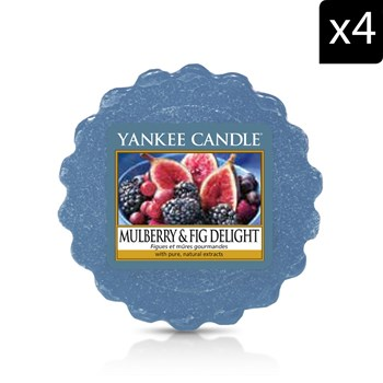 Yankee Candle - Figues et Mûres Gourmandes - Geurkaars - blauw