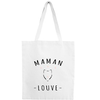 Maman Louve - Sac shopping - blanc