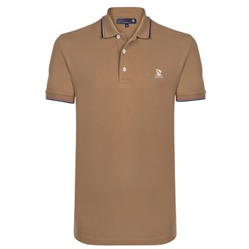 Polo manches courtes - beige