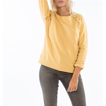 Cross Lace - Sudadera - amarillo