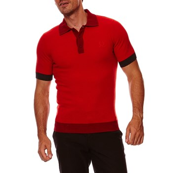 Polo en laine - rouge