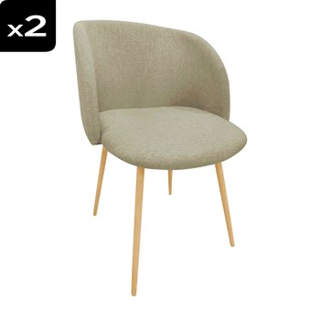 Lot de 2 Chaises - lin