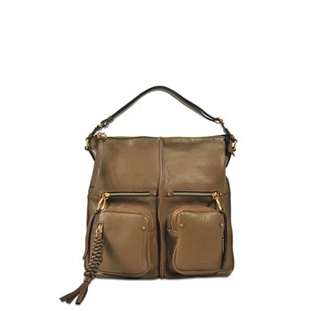 Patti - Sac hobo en cuir - marron