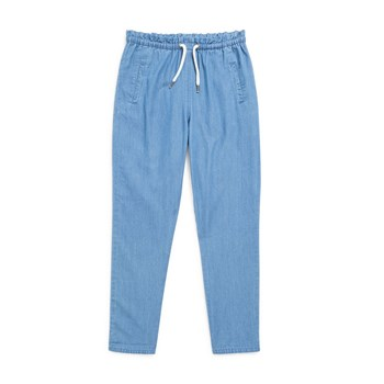 Pantalon chino chambray - bleu