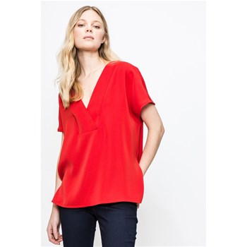 Sinéquanone - Imperial - Blouse crêpe col V - rouge